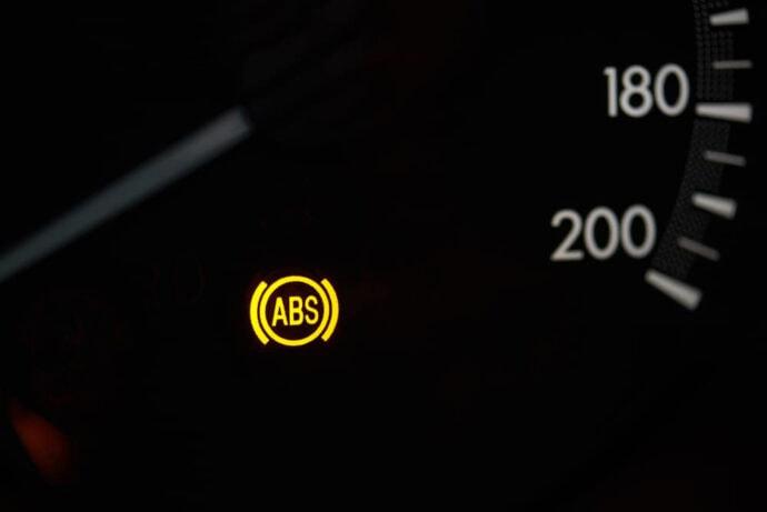ABS-lampa som lyser